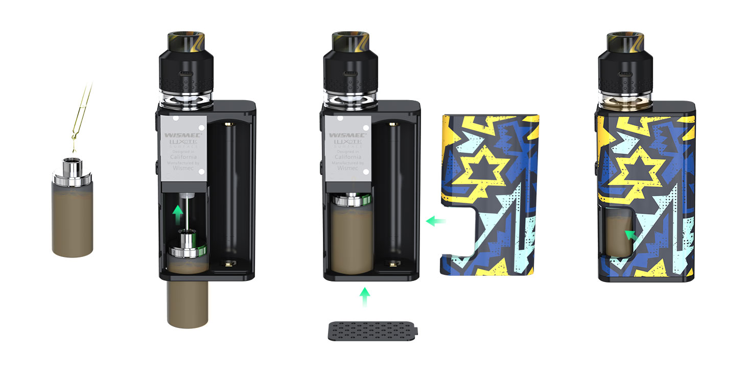 Wismec LUXOTIC SURFACE 80W Squonk Box Mod LUXOTIC-SURFACE_09