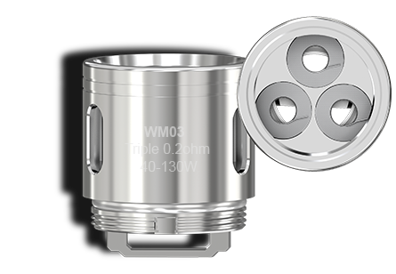 WM03 Triple 0.2ohm Coil Head