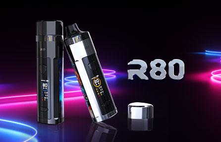 Wismec R80 on a neon background